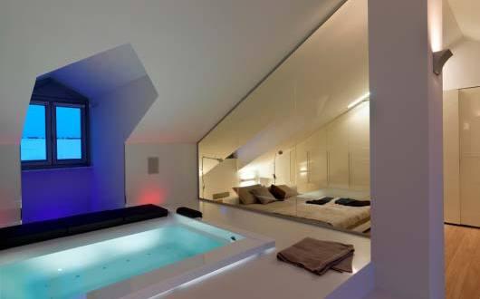 luxus schlafzimmer ideen fr gemtliches schlafzimmer mit whirlpool badewanne  fresHouse