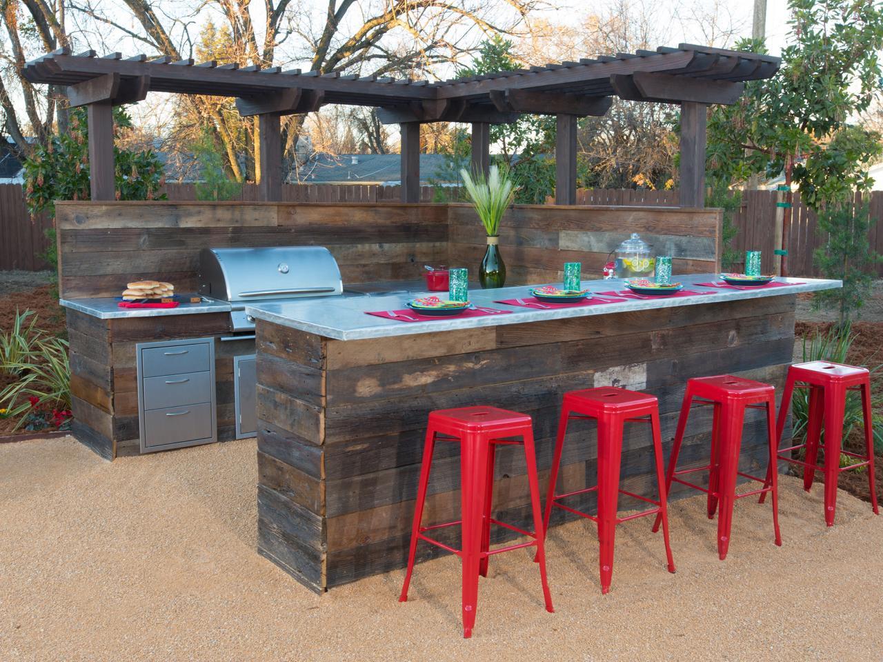 Garten Bar mit Kche selber bauen  fresHouse