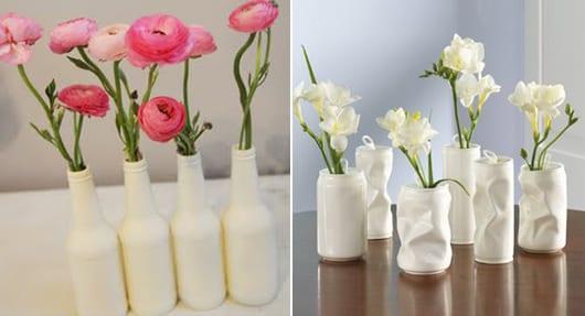 Blumenvaseweiselberbastelnausdosenundglasflaschen