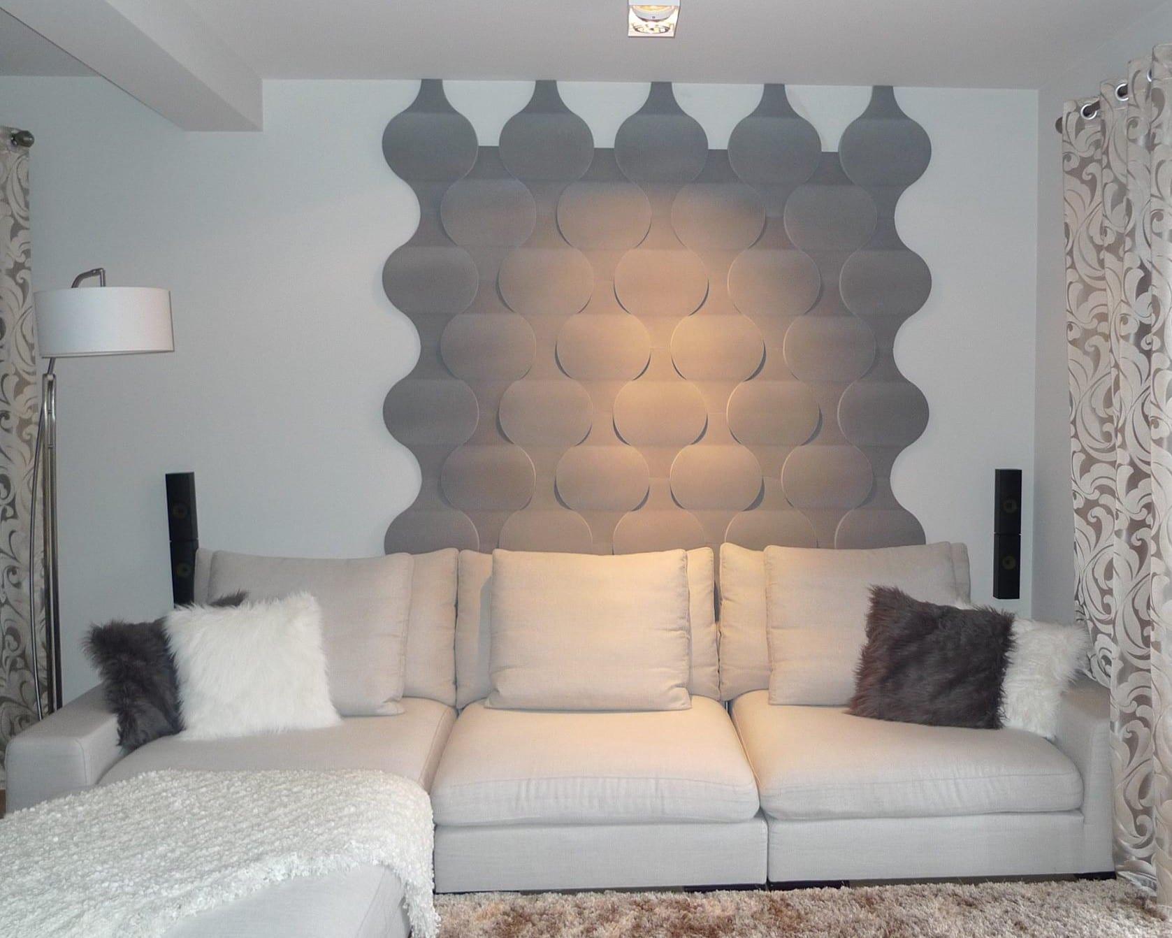 kreative wohnideen fr kleines wohnzimmer und moderne wandgestaltung in grau  fresHouse