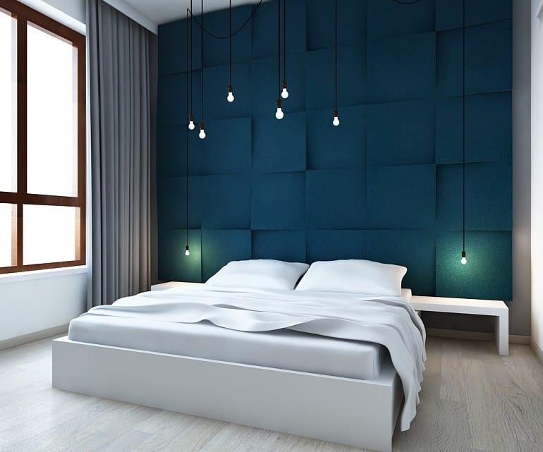 kreative wohnideen schlafzimmer und farbgestaltung wnde in blau  fresHouse