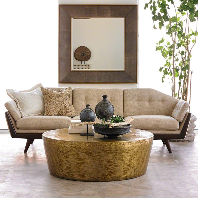wohnzimmer design beispiele mit designer sofa beige und