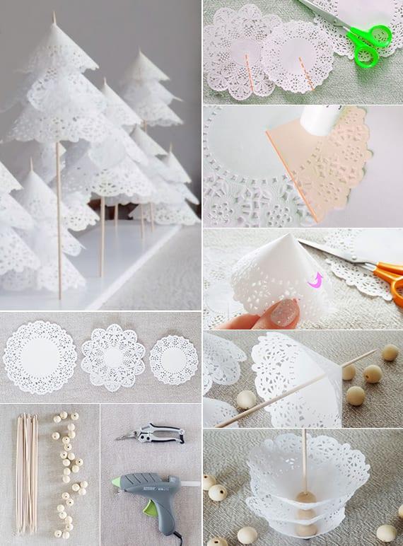 bastelideenweihnachtenmitpapierplatzdeckchenfrDIYweihnachtsbaum  fresHouse