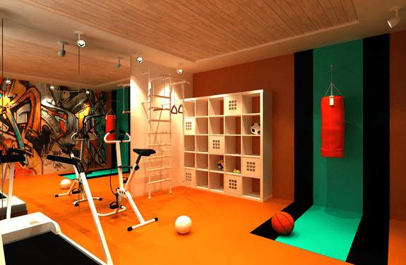 coole raumgestaltung fr fitnessraum zuhause  fresHouse