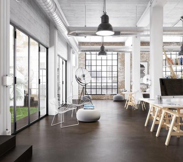 Estrichder Fußboden Im Industrial Style Für Gestaltung