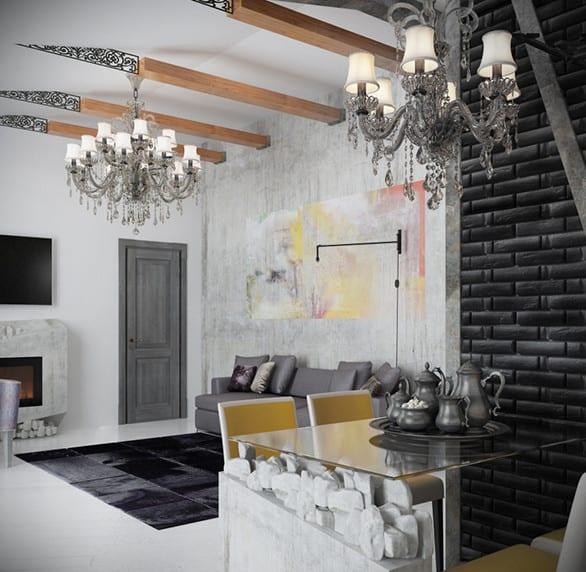 schwarze wnde_coole wohnideen fr moderne raumgestaltung
