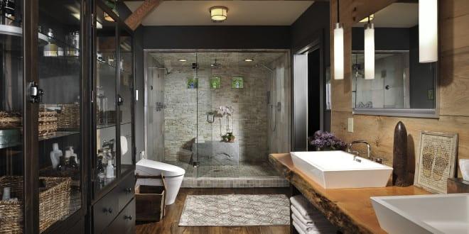moderne Badezimmer im Vintage Style_badezimmer ideen fr retro bad mit vintagewaschtisch holz
