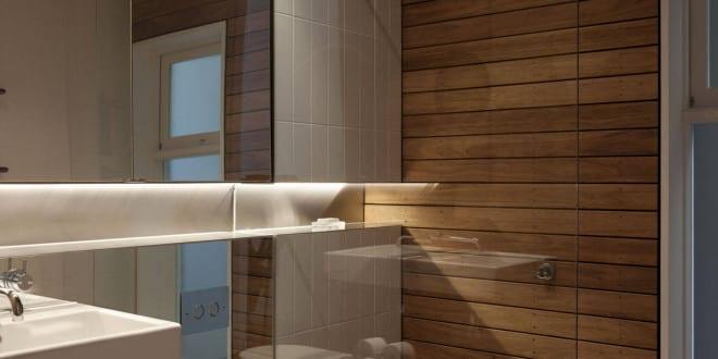bad modern gestalten mit spiegelwand und indirekt