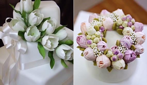 Blumendeko Torte