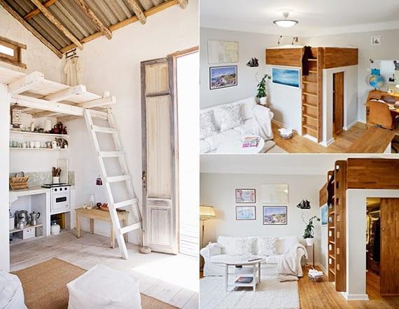 kleine wohnung einrichten mit hochbett_kreative einrichtungsbeispiele fr kleine schlafzimmer