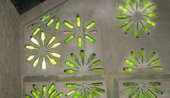 inspirierendebastelundupcyclingideenmitweinflaschenfuermodernewandgestaltung  fresHouse