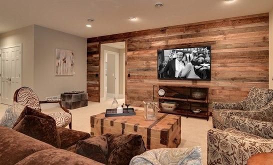 Wandgestaltung Ideen mit Paletten fr wohnzimmergestaltung