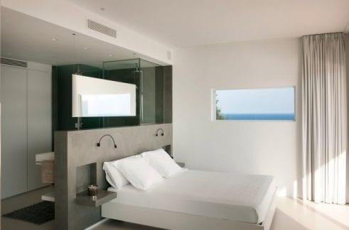 Wohnideen Schlafzimmer  den Platz hinterm Bett fr