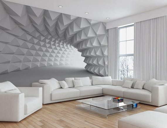 Effektvolle Wand und Raumgestaltung mit Fototapete  fresHouse
