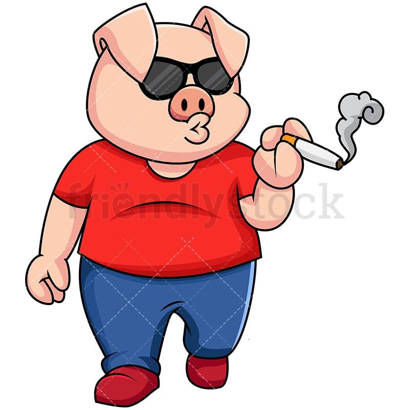 свинка с сигаретой картинки срезать пуговицу манжета