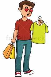 shopping shirt clipart while cartoon falling friendlystock