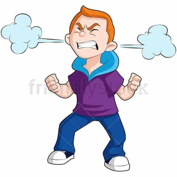 Angry Kid Cartoon Vector Clipart - Friendlystock