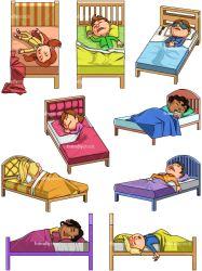 sleeping cartoon clipart vector children friendlystock background