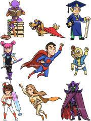 superheroes and supervillains cartoon