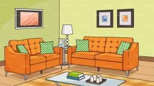 living background sofa cartoon clipart vector backgrounds friendlystock