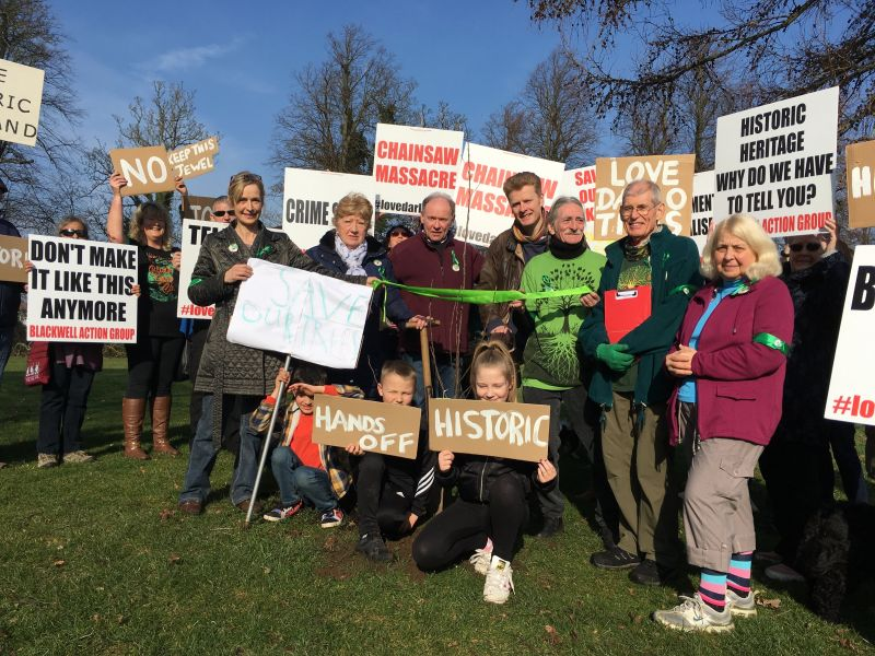 Friends of the Earth Darlington supports #LoveDarloTrees protest