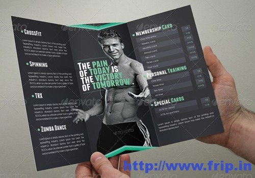 50 Best Spa Fitness & Hair Salon Brochure Template Frip In