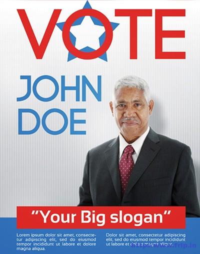 political poster template vapha