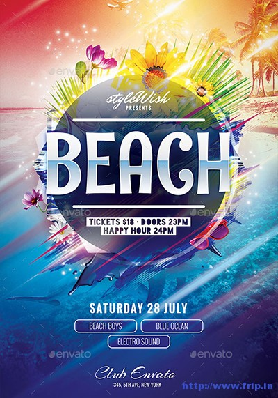 70 Best Summer Beach Flyer Print Templates 2019 Frip In