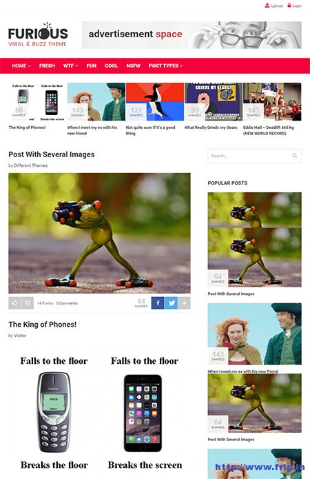 Furioso-Viral - & - Buzz-WordPress-Tema