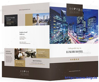 35 Best Hotel Brochure Print Templates 2017 Frip In
