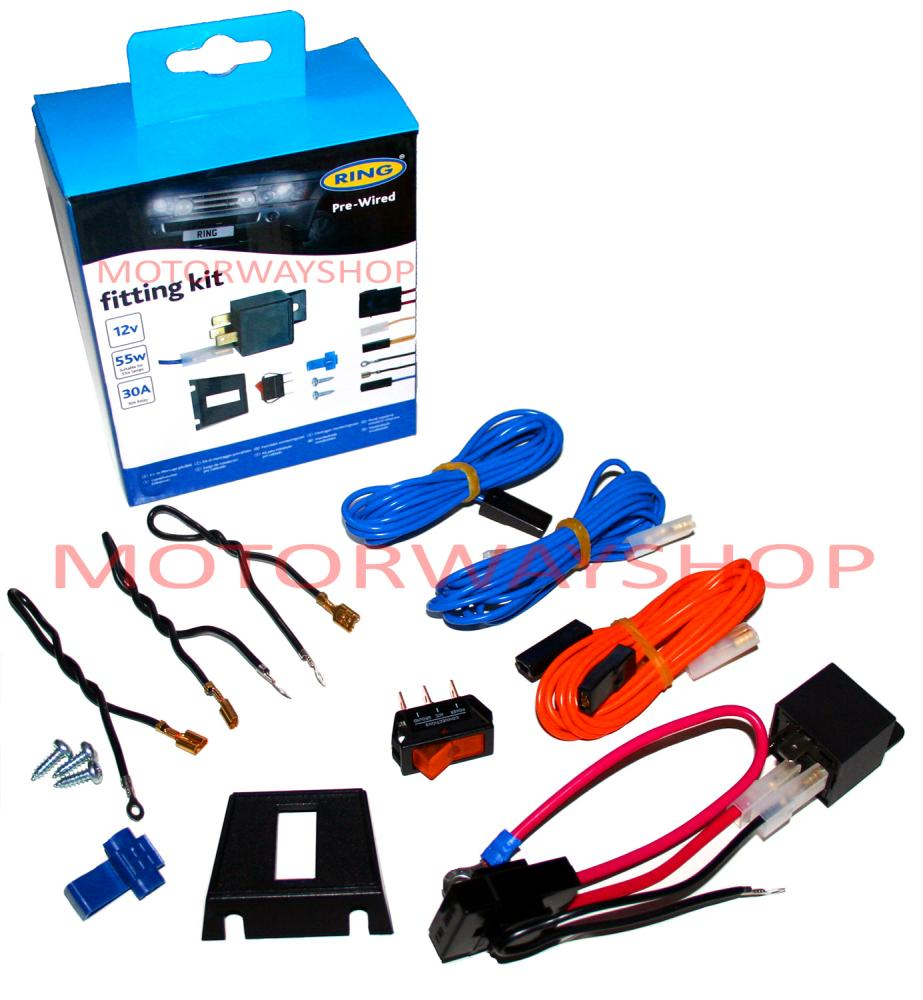 medium resolution of driving fog lamp light wiring kit fast fit pre wired with relay switch ring