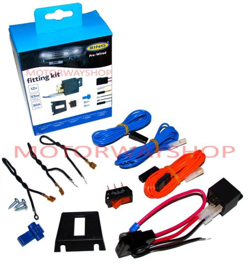 small resolution of driving fog lamp light wiring kit fast fit pre wired with relay switch ring