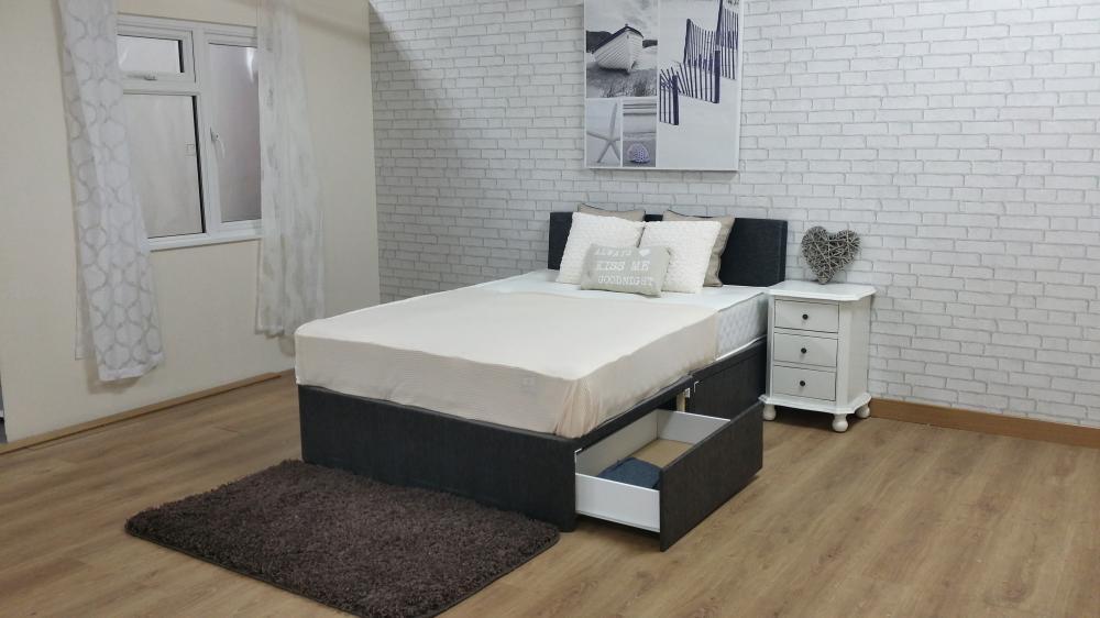 3 4 Iron Bed Foam Mattress
