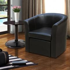Playroom Sofa Bed Reclining Living Room Sets Stylish Faux Leather Tub Chair With Matching Footstool ...