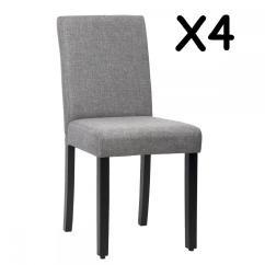 Diy Wood Chair Mat Stool Under New Set Of 4 Grey Elegant Design Modern Fabric Upholstered Dining Chairs B164 848837016456   Ebay