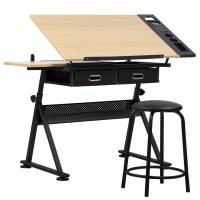 Office Drawing Desk Station Adjustable Drafting Table Set ...