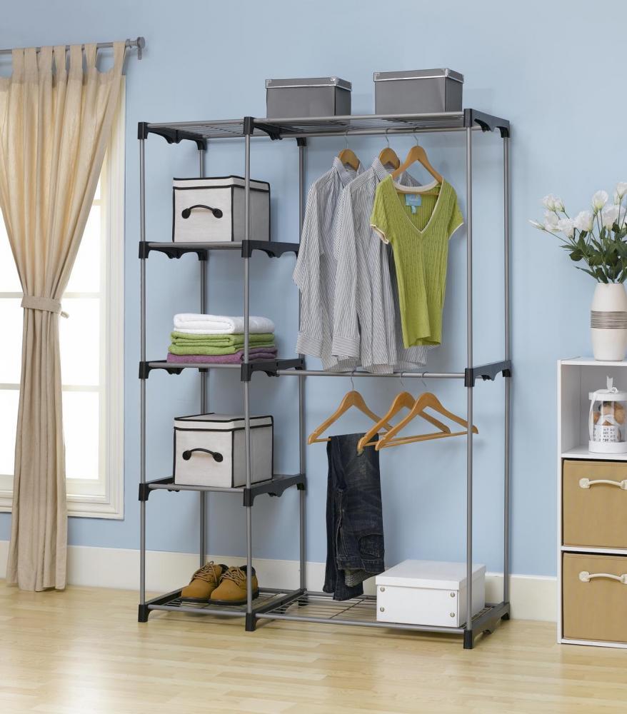 Closet Organizer Storage Rack Portable Clothes Hanger Home