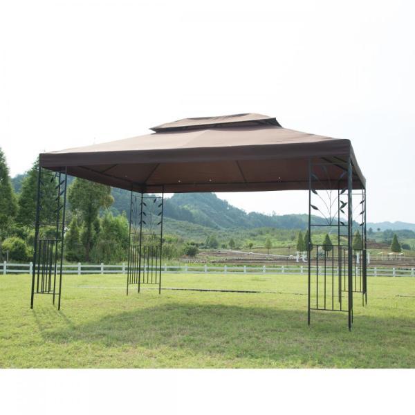 12'x 10' Outdoor Gazebo Steel Frame Vented