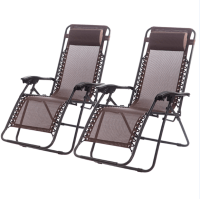 New Zero Gravity Chairs Case of 2 Lounge Patio Chairs ...