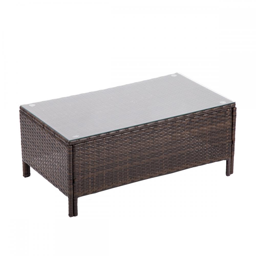 4pc PE Rattan Wicker Sofa Set Cushion Outdoor Patio Sofa