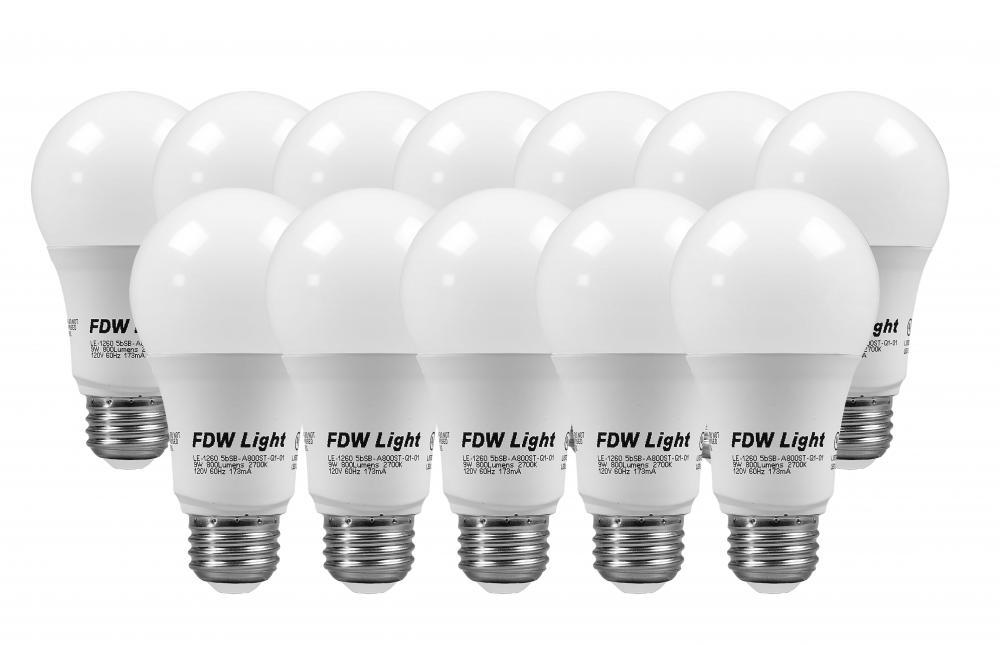 New 60 Watt Equivalent SlimStyle A19 LED Light Bulb Soft