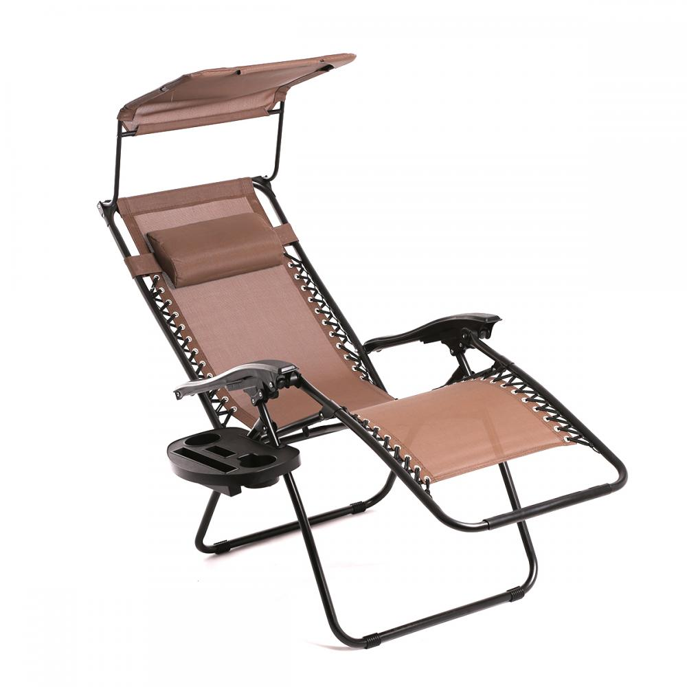 New Brown Zero Gravity Chair Lounge Patio Chairs Outdoor