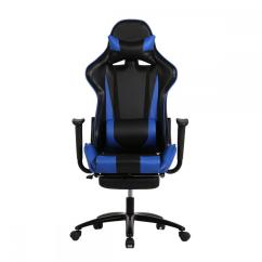 Salon Chairs For Cheap Folding Outdoor Use Blue Office Chair High Back Computer Racing Gaming Ergonomic Rc1   Ebay