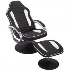 Reclining Gaming Chair Revolving Luxury New Comfortable Pu Recliner Relax Racing W/ Footrest 81 | Ebay