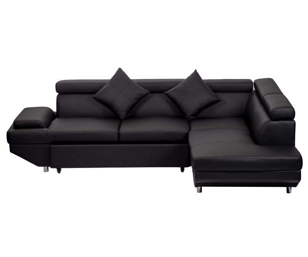office chair instructions 1 2 recliner contemporary sectional modern sofa bed - black with functional armrest / back r   ebay