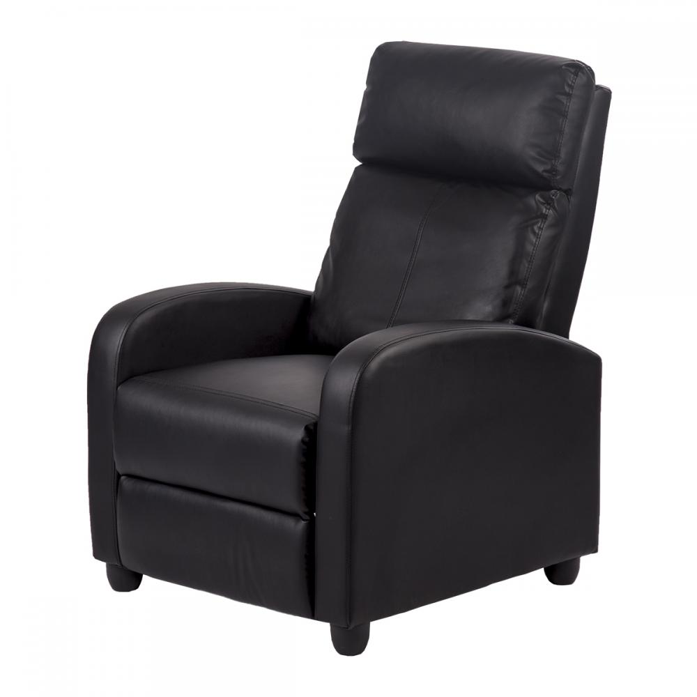 Recliner Chair Modern Leather Chaise Couch Single Accent Recliner Chair Sofa 87  eBay