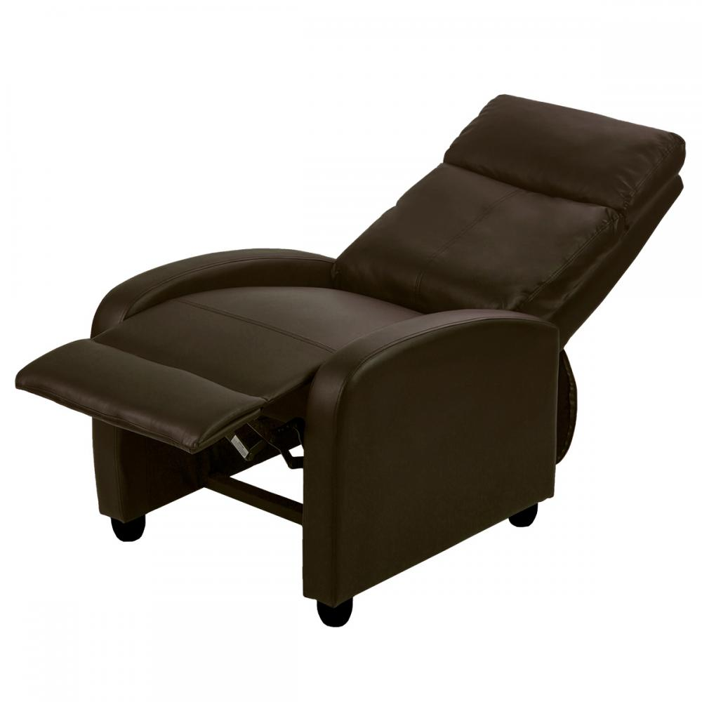 Recliner Chair Modern Leather Chaise Couch Single Accent