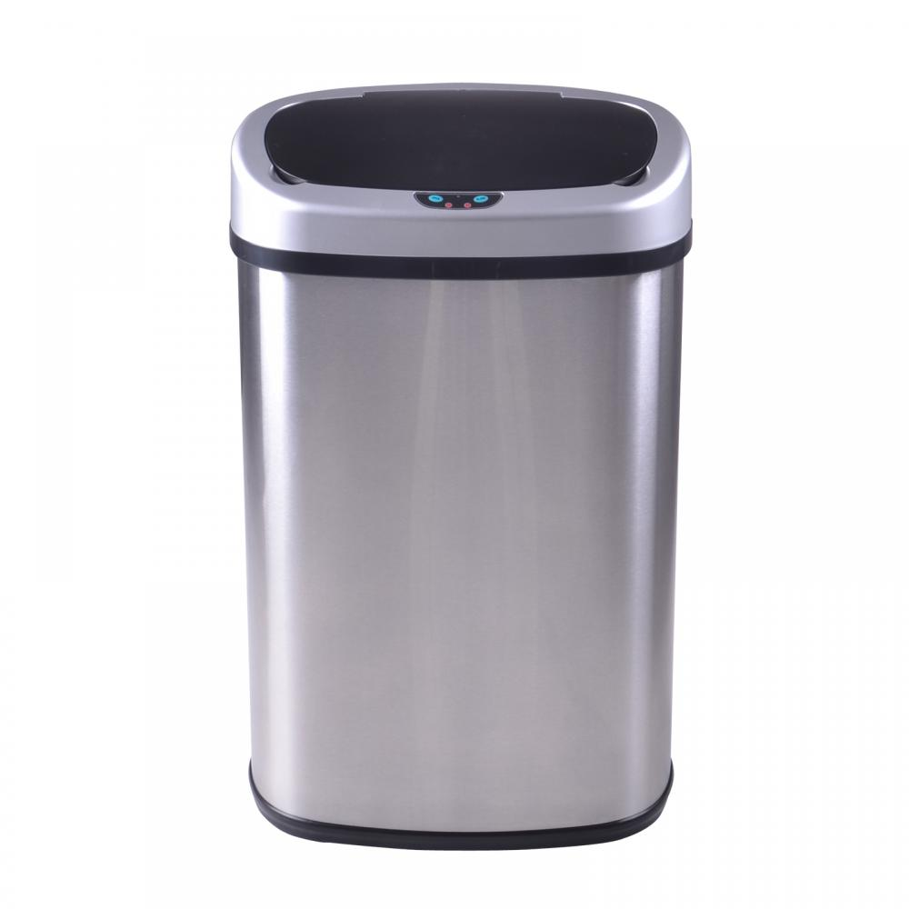 13 gallon kitchen trash can hotels with kitchens in ocean city md new 13-gallon touch-free sensor automatic stainless-steel ...