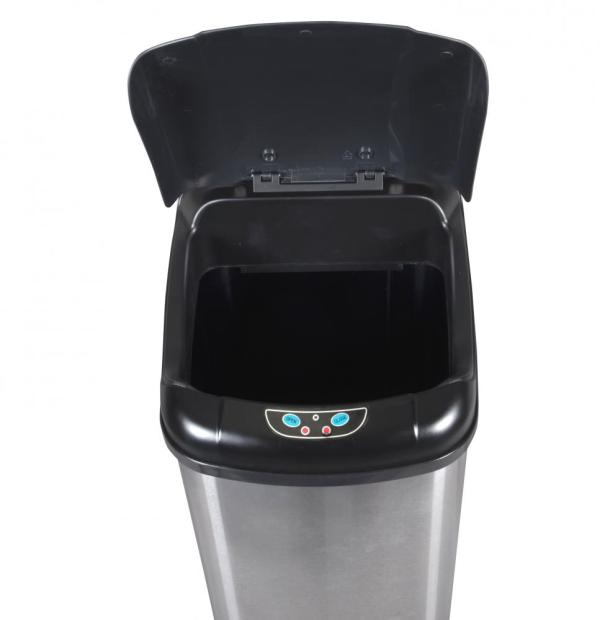 13 Gallon Touch-free Sensor Automatic Stainless-steel Trash Kitchen 13g 848837006044