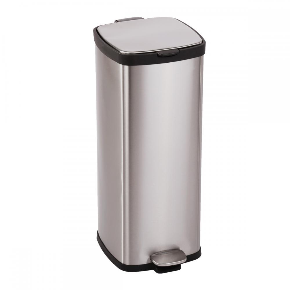 BestOffice 8 Gallon 30L Step StainlessSteel Trash Can